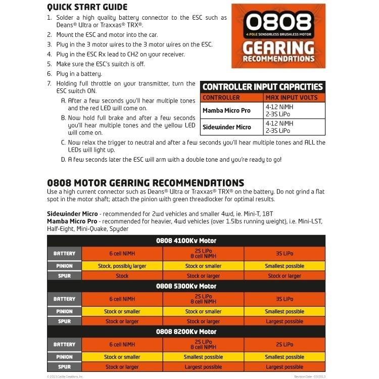 RCFlight - Castle MAMBA MICRO PRO 1:18 12V Car ESC + 8200KV