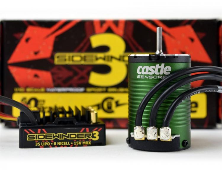 RCFlight - Castle SIDEWINDER 3 ESC 12V 1/10 med 1406-6900KV Sensormotor