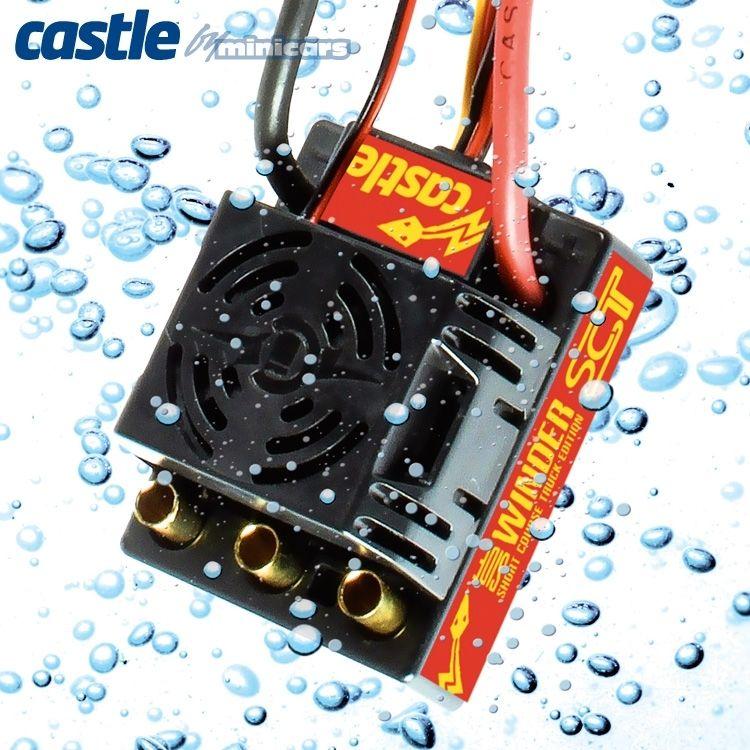 RCFlight - Castle Sidewinder SCT WP ESC Combo med 1410-3800KV motor 5mm